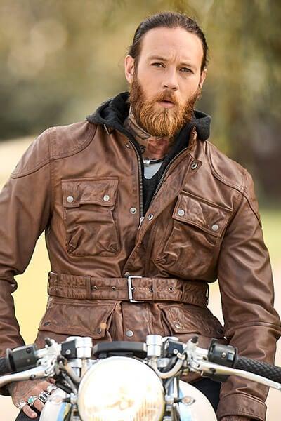 Joe Browns Men's Leather Biker Jacket