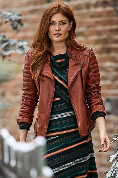 Joe Browns Women's Tan Leather Jacket