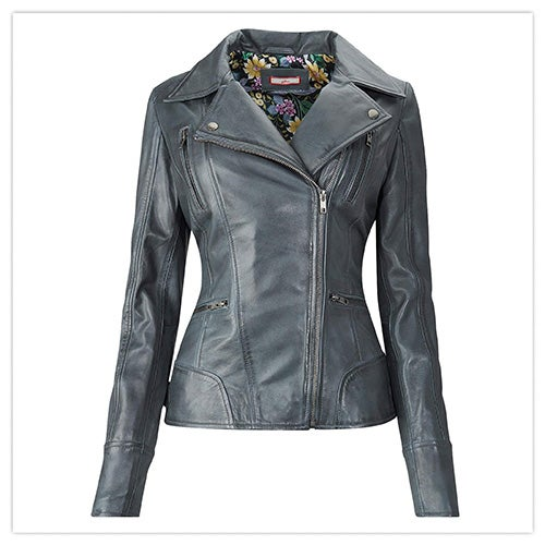 Joe Browns Classic Leather Jacket in Grey