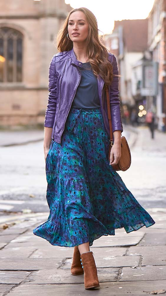 Joe Browns Peacock Midi Skirt
