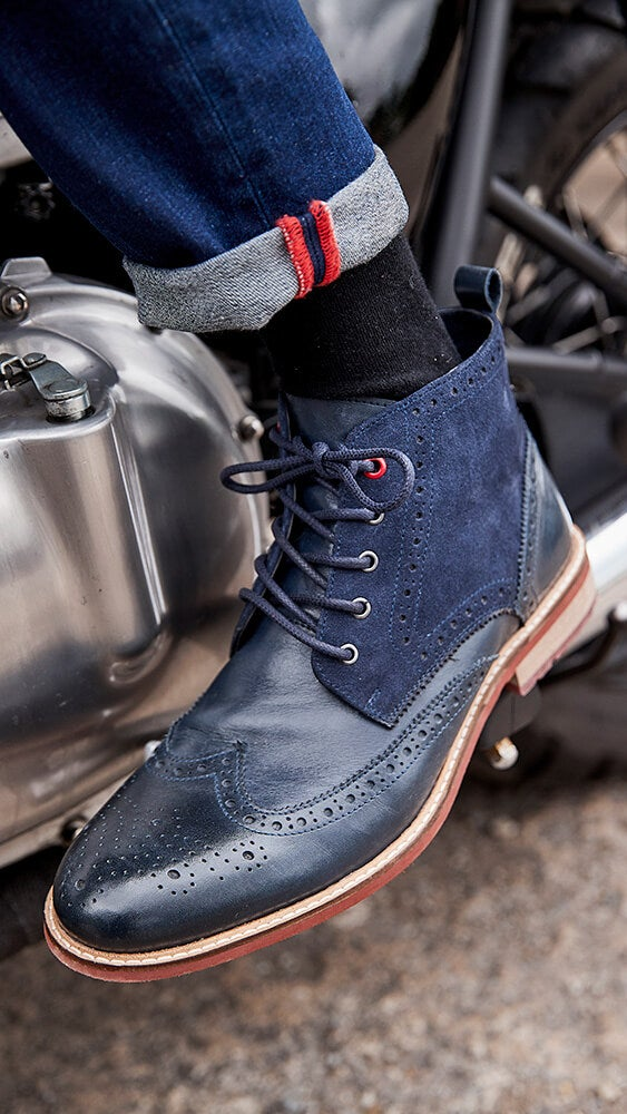 Joe Browns Blue Note Leather Brogue Boots