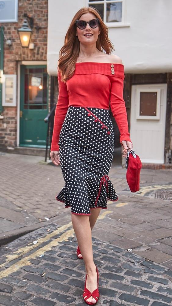 Joe Browns Vintage Polka Dot Bop Skirt