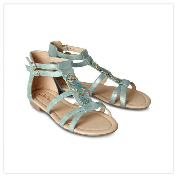 Shimmer Seahorse Sandals