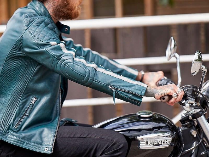 Joe Browns Men's Leather Biker Jacket with Belt