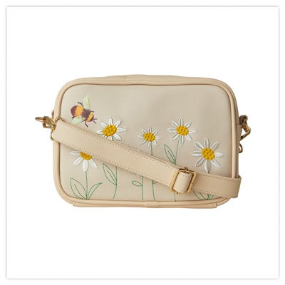Bee And Daisy Embroidered Bag