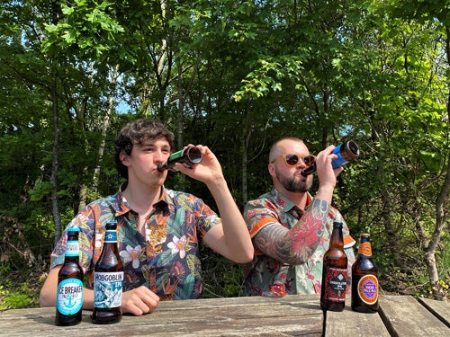 Alex and Ben Beer Tasting