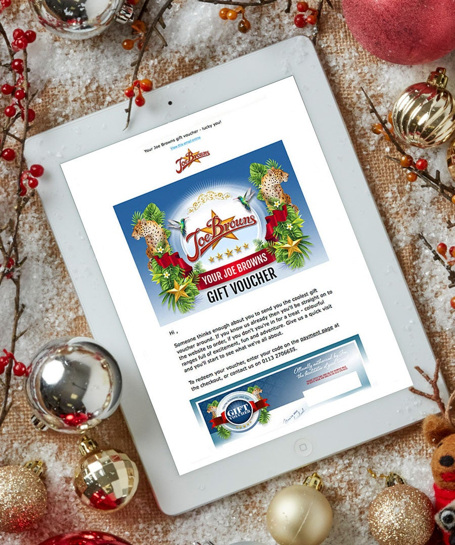 Joe Browns Email Gift Vouchers