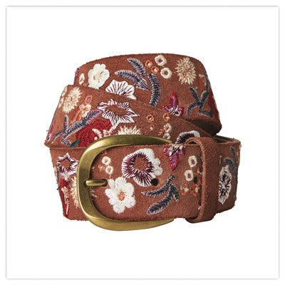 Ibiza Town Embroidered Belt