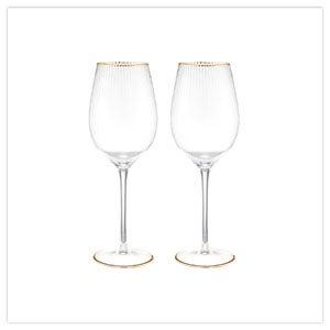 Set of 2 Deco Wine Glasses