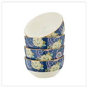 Fabulous Floral Set of 4 Bowls