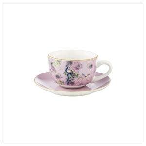 Fabulous Floral Set of 4 Teacups Saucers
