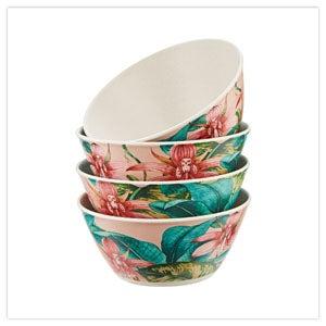 perfect picnic set of 4 melamine bowls