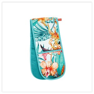 Truly Tropical Double Oven Gloves