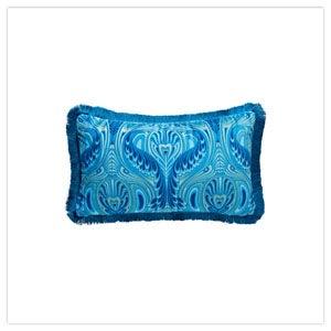 Fabulous Nouveau Peacock Fringe Cushion