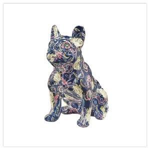 Fabulous Floral Resin Bulldog