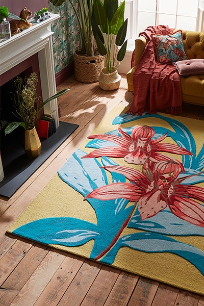 Sunkissed Orchid 100% Wool Tufted Rug