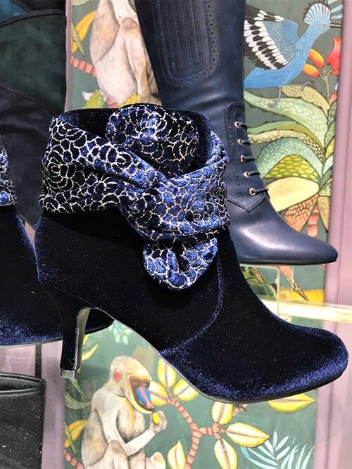 Not So Shy Velvet Boots £55