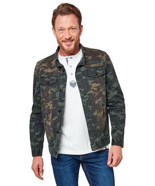 Camo Western Biker Jacket