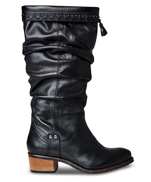 Be Creative Leather Slouch Boots