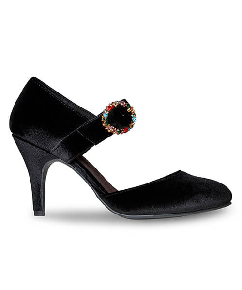 Jewel In The Night Velvet Shoes