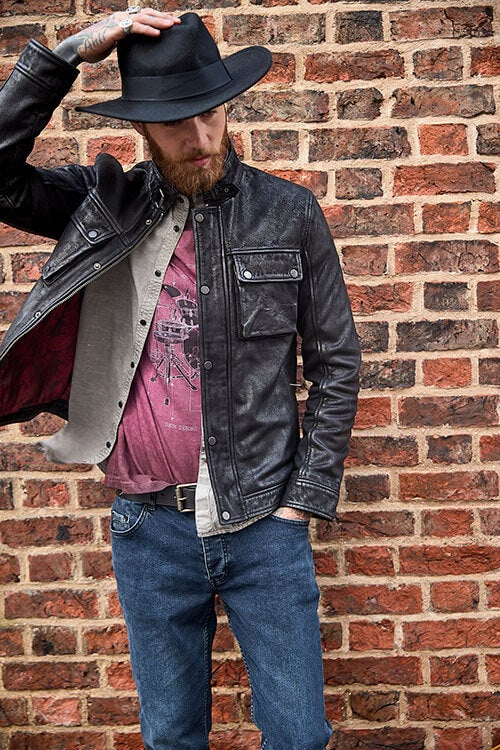 Life Is For Living Leather Jacket