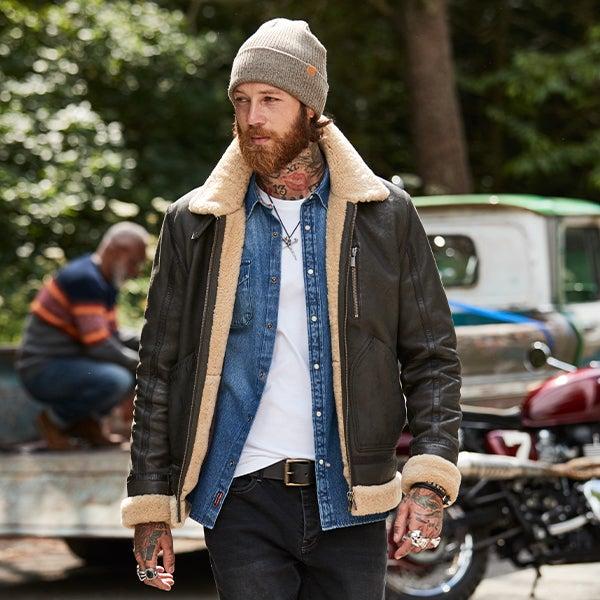Joe Browns Men's Tan Leather Jacket