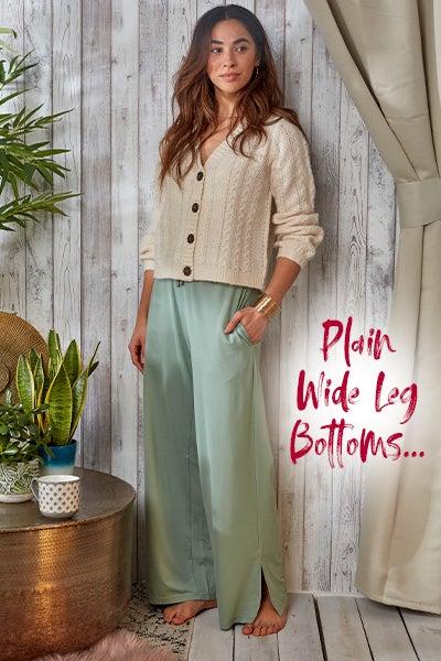 Plain Wide Leg bottoms