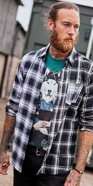 Monochrome Check Shirt
