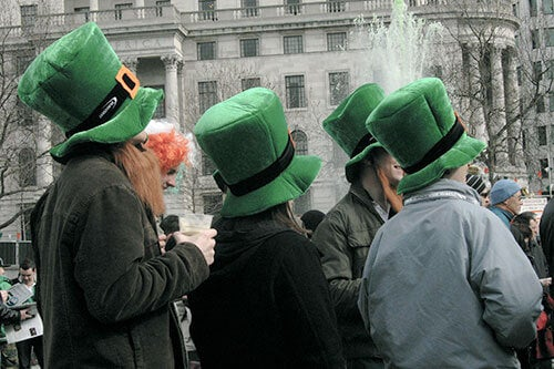 St Patricks Day scenes