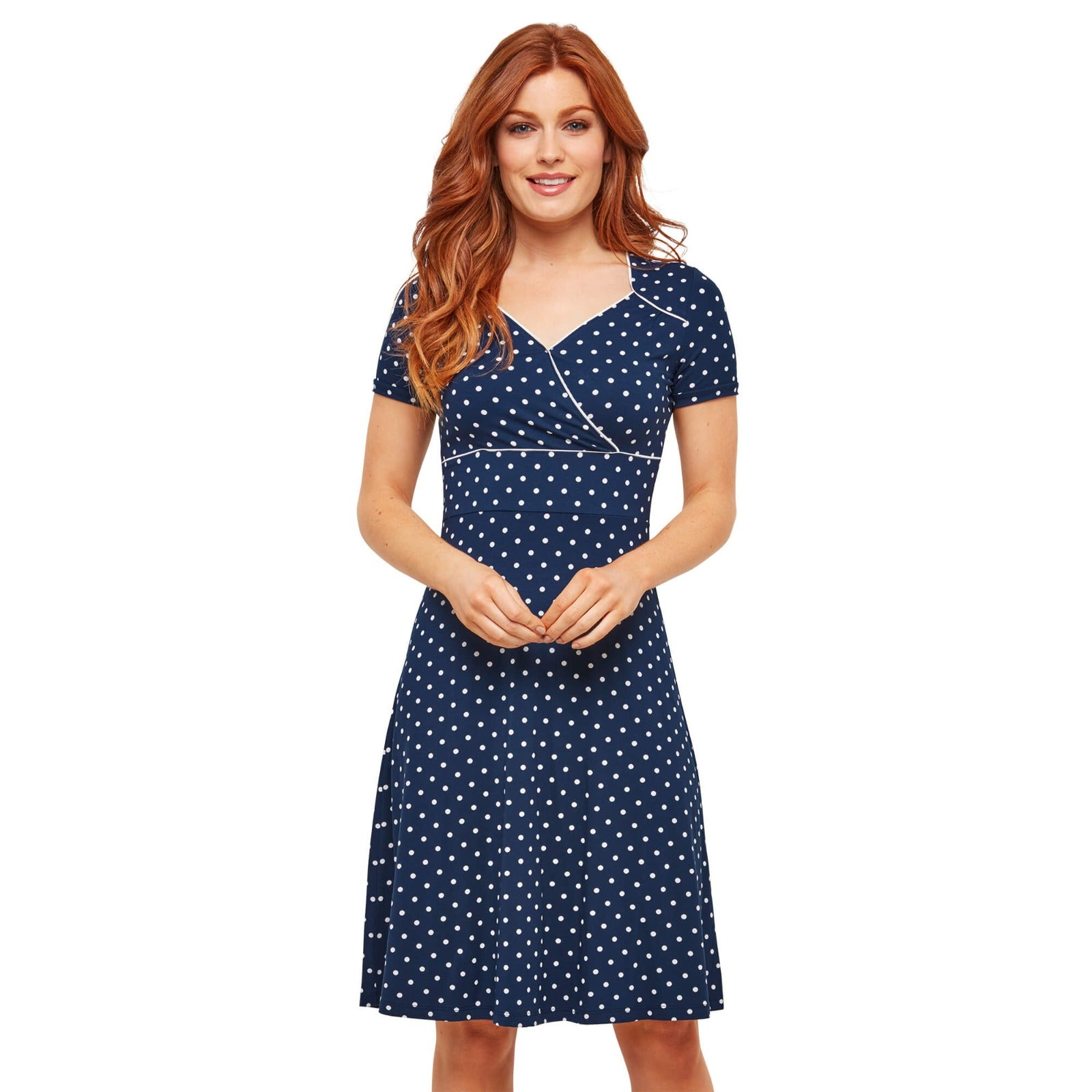 Perfect Polka Dot Jersey Dress