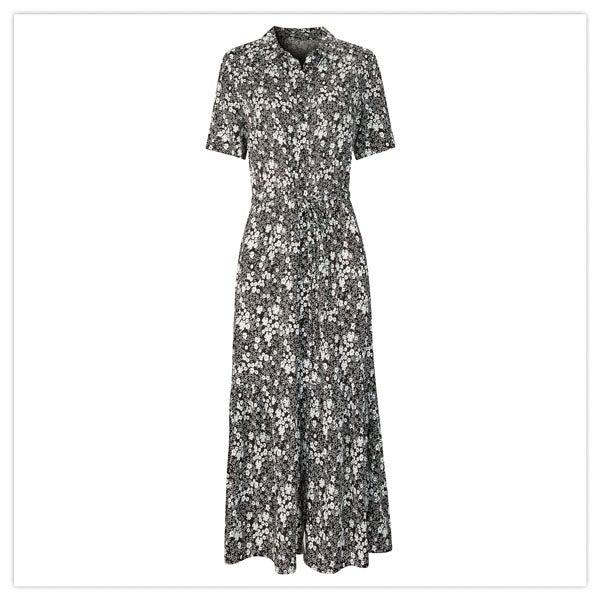 Monochrome Floral Dress