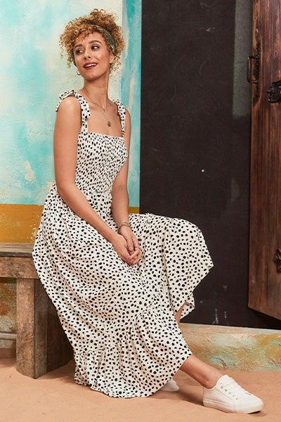 Dalmation Print Dress