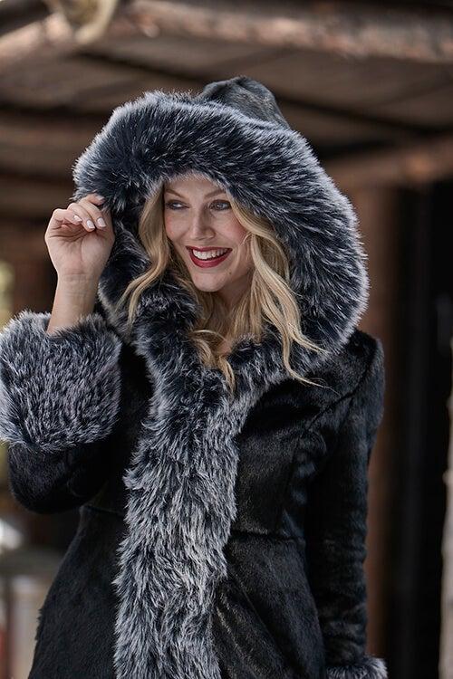 Stunning Faux Fur Coat