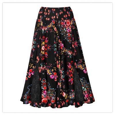 Pop of bright skirt