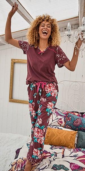 Floral Leopard Loungewear Tshirt