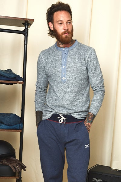 Sloe Joes Comfy And Cool Henley