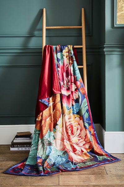 Luxury Velvet Printed Throw