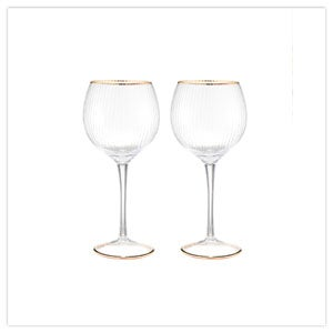 Set Of 2 Deco Gin Glasses