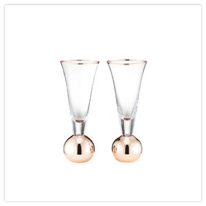 Set Of 2 Stemless Champagne Glasses
