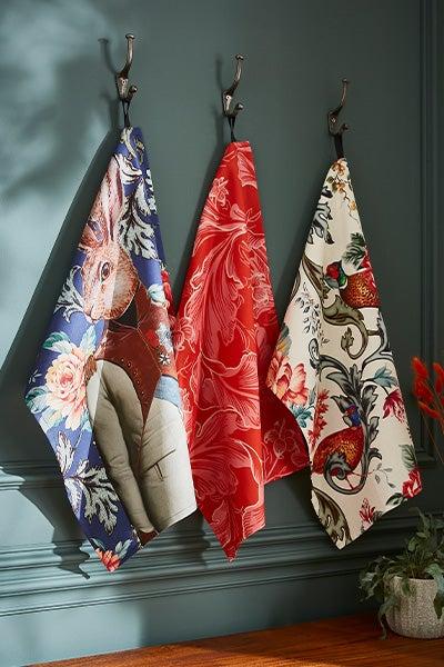 Set Of 3 Heritge Tea Towels