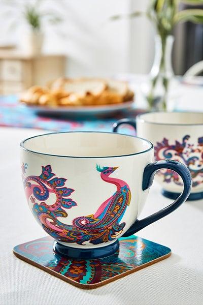 Perfect Peacock Footed Mug