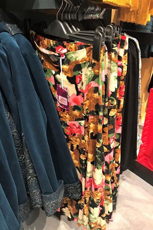 Asymmetric Floral Skirt