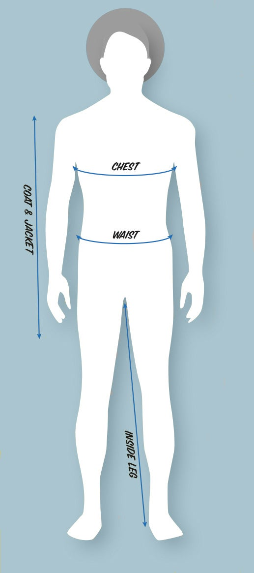 Men's Clothing Size Diagram