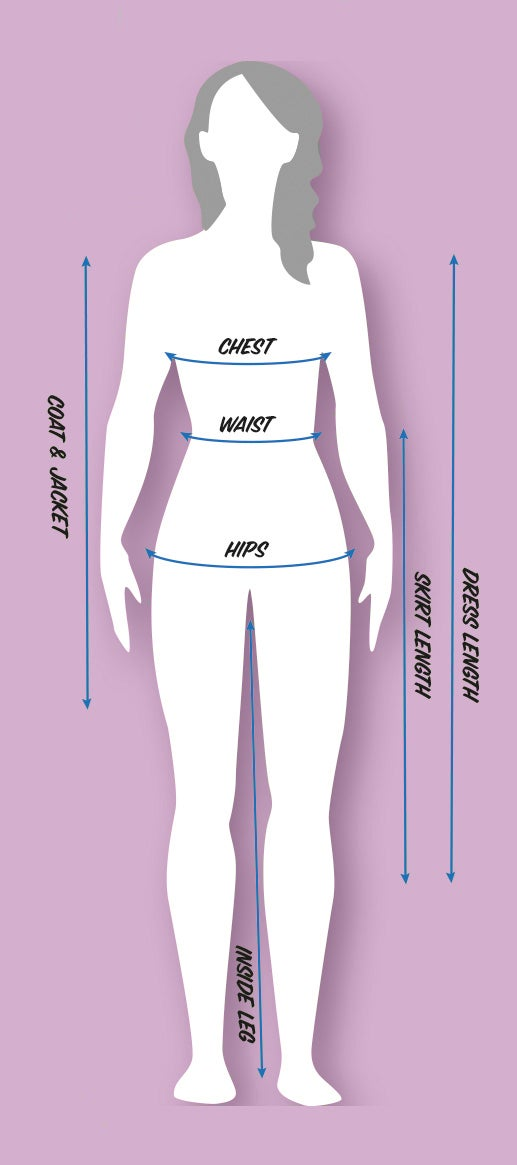 Women's Clothing Size Diagram