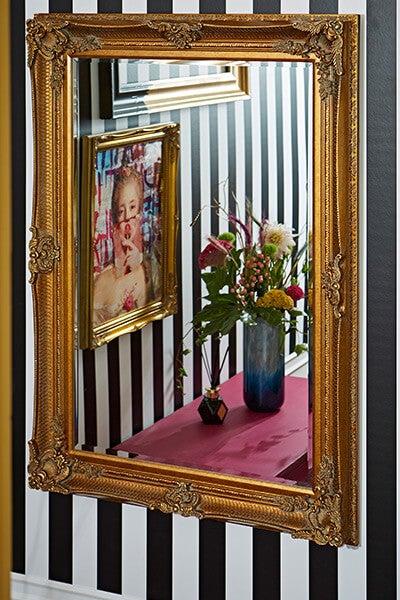 History Clash Gold Baroque Mirror