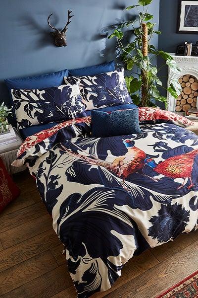 Pheasant Floral Duvet Set