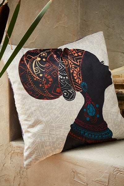 African Lady Reversible Cushion