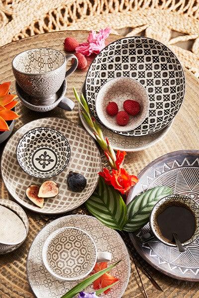 Set of 4 Designs Pasta Bowls