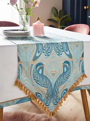 Nouveau Peacock Table Runner